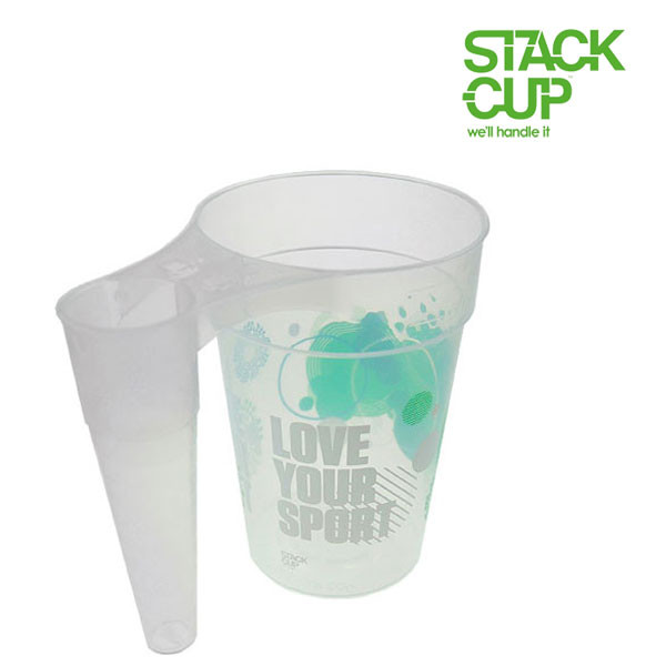 STACK-CUP™ Love Your Sport Polypropylene Reusable Half Pint To Line (12oz)
