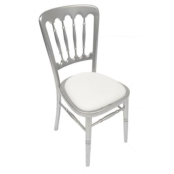 Silver Napoleon Chair Hire