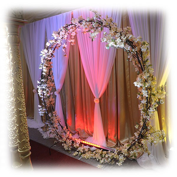 Circular Floral Backdrop