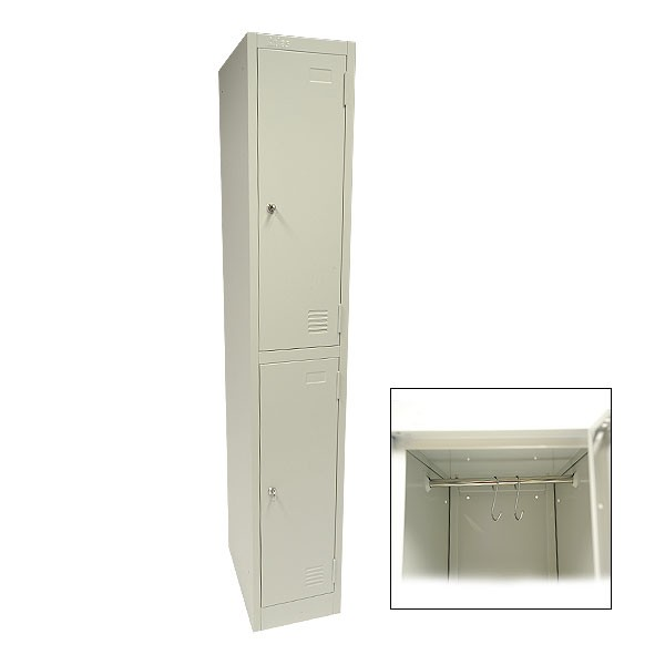 Grey 2 Door Locker