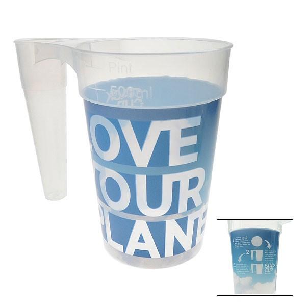 STACK-CUP™ Planet Reusable Plastic Pint + Deposit Scheme