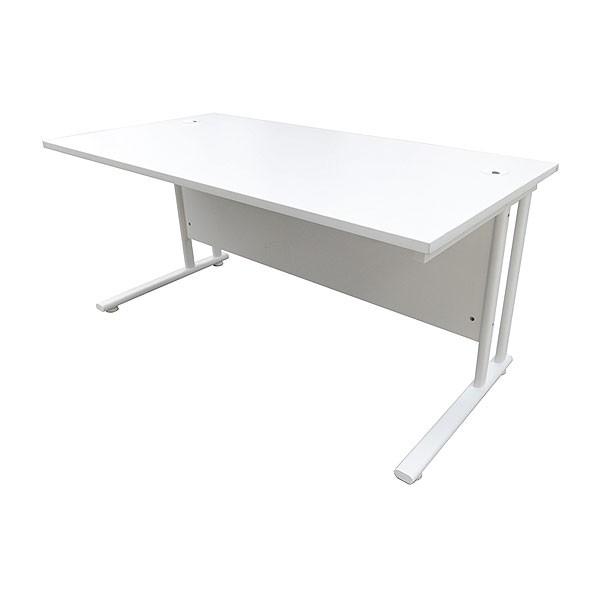 5ft White Office Desk