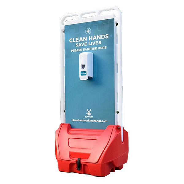 Two Sided Outdoor Hand Sanitiser Dispenser Station