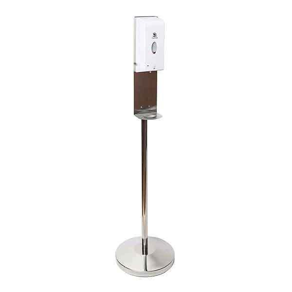 Freestanding Hand Sanitiser Dispenser Chrome Stand