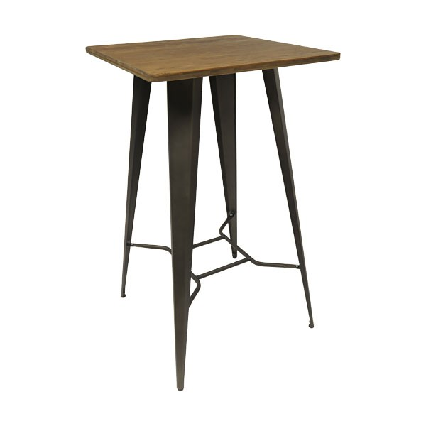 Rustic Tolix Poseur Table