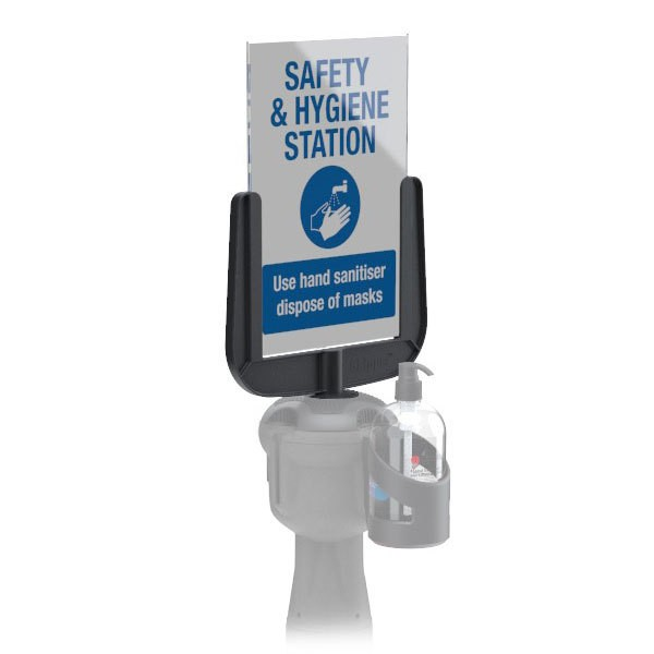 A4 Sign Holder For Retractable Queuing System