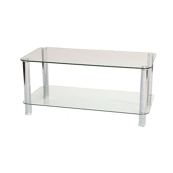 Two Tier Glass & Chrome Coffee Table