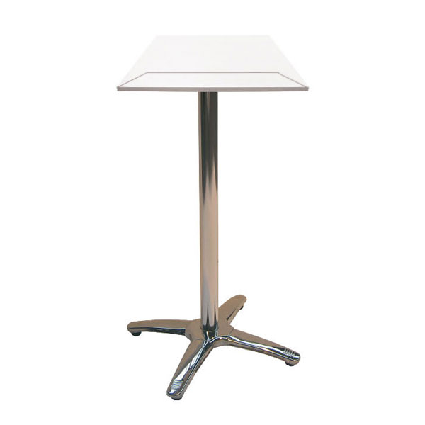 Jem Square White Poseur Table