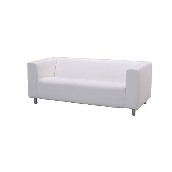 White Fabric Regent Settee