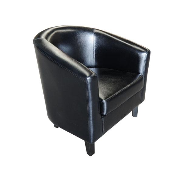 Club Chair Black Leather