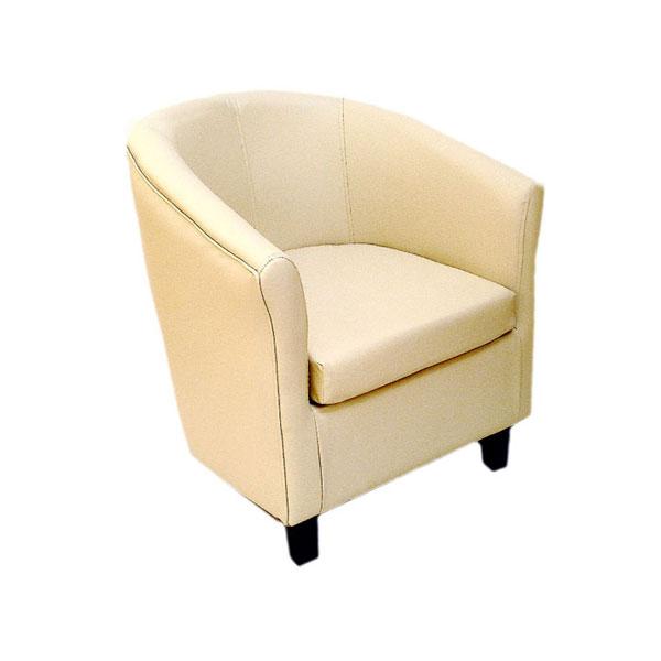 Club Chair Cream Leather