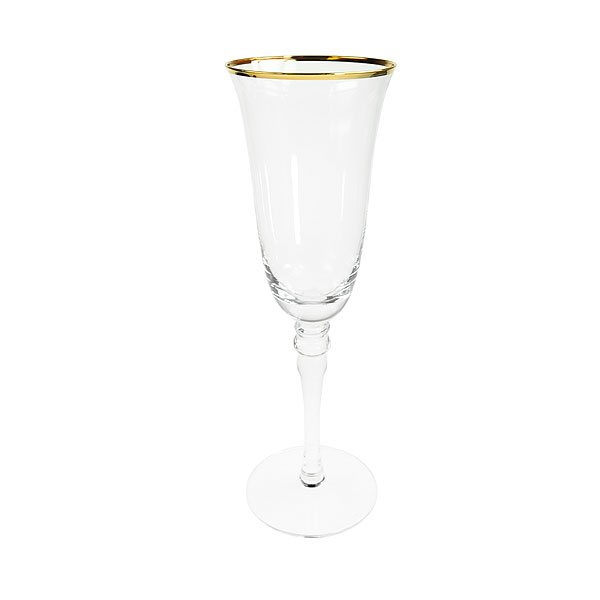 Gold Rim Champagne Glass