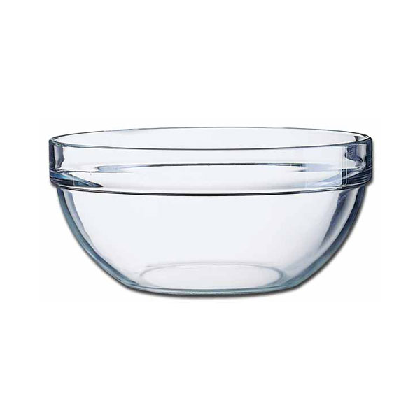 Glass Round Salad Bowl