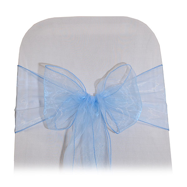 Blue Organza Chair Tie