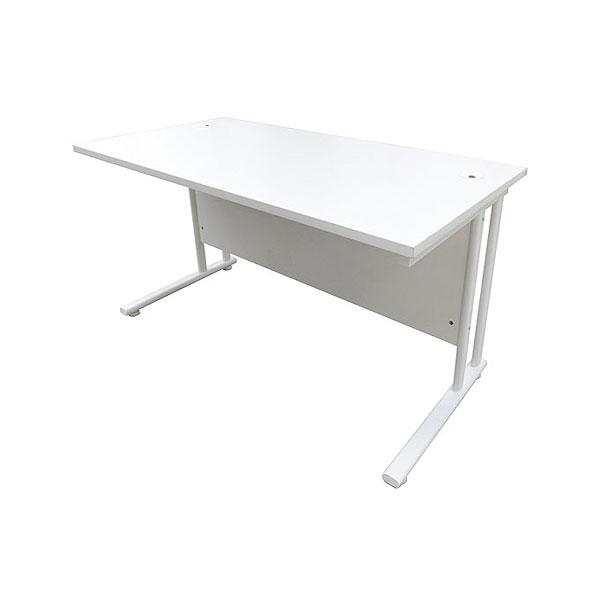 4ft White Office Desk