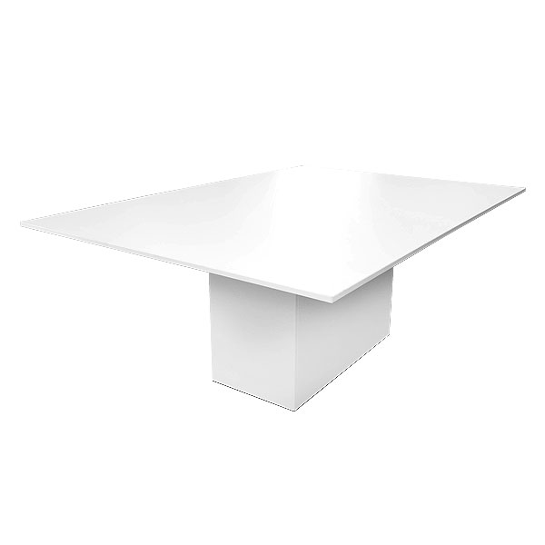 Rectangular Crystal White Table