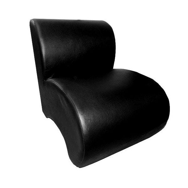 Black Unit Leather Chair