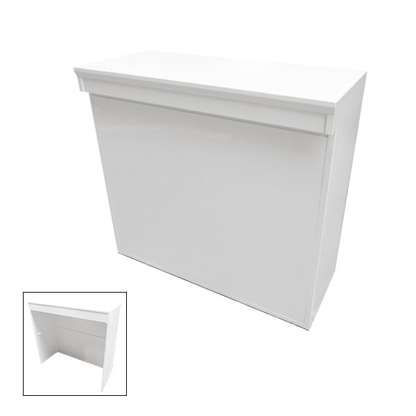 Modular White Linear Reception Desk