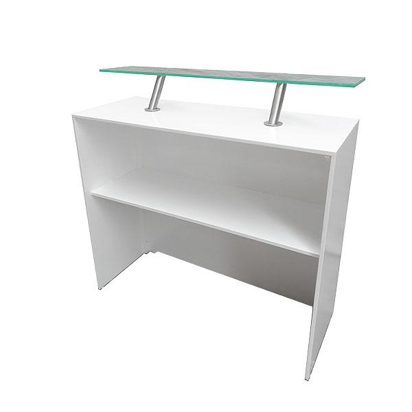 Modular White Back Bar Unit 500 With Perspex Shelf