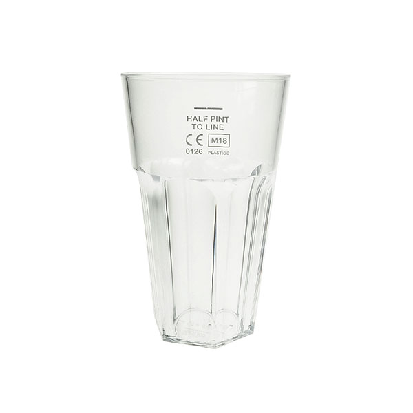 Reusable Plastic Celebrity Half Pint Tumbler