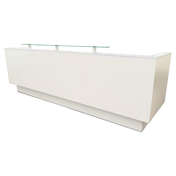 3m Welcome Reception Desk With Front Perspex Shelf