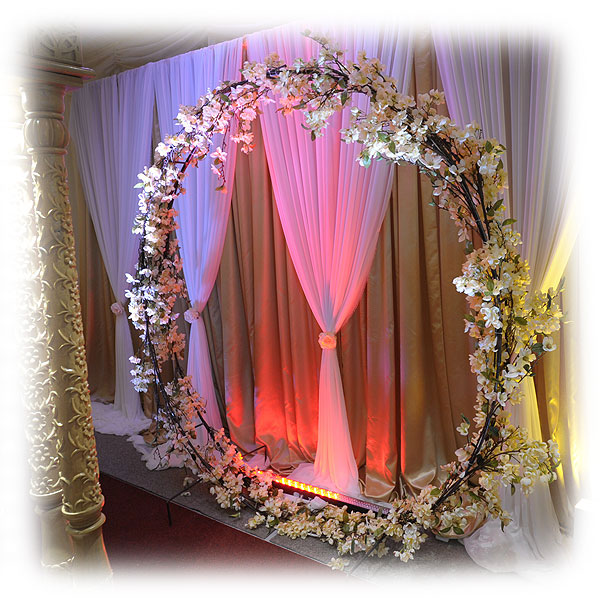 Circular Floral Backdrop