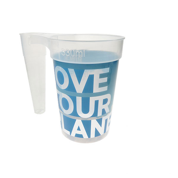 STACK-CUP™ Planet Reusable Plastic Half Pint