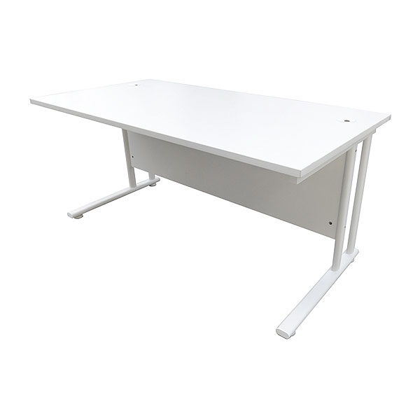 5ft White Office Desk