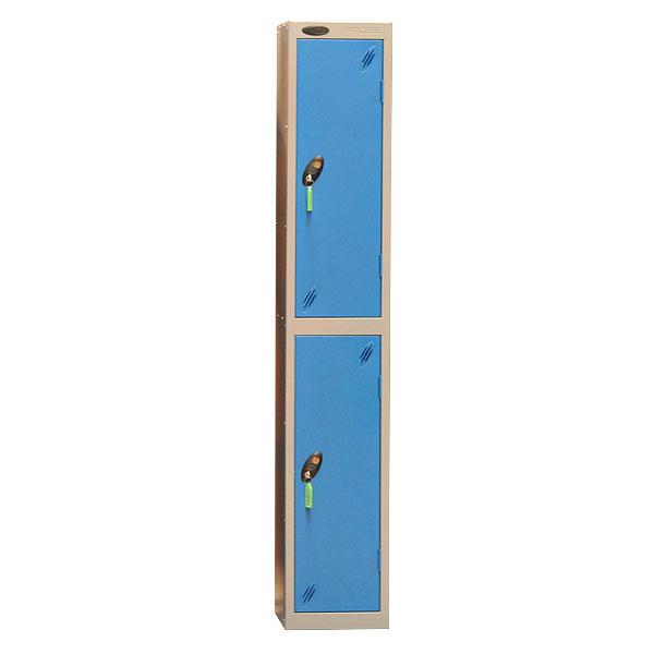 Blue & Grey 2 Door Locker