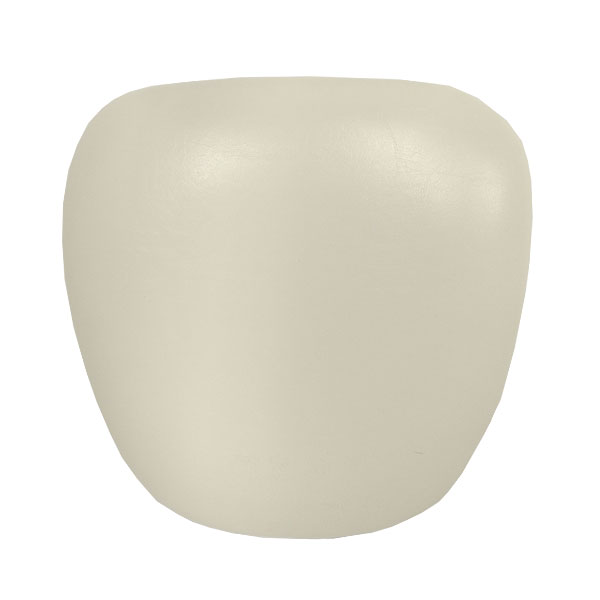 White Leather Seat Pad Hire