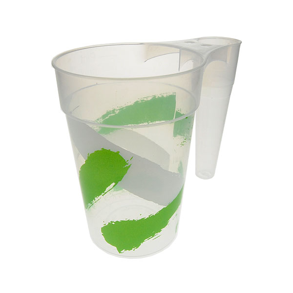 Reusable Plastic Pint With Handle